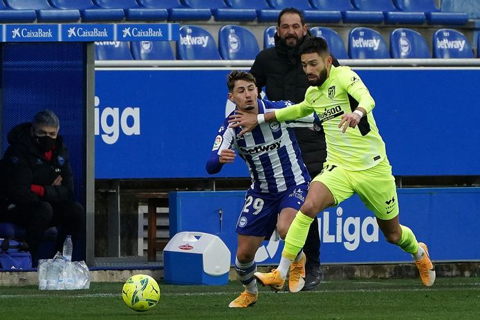 Carrasco op 3 januari in de gewonnen match bij Alaves.