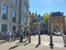 Filmopnames bij het Binnenhof voor nieuwe dramaserie over Pim Fortuyn