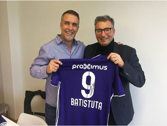 Batistuta bezoekt Anderlecht.