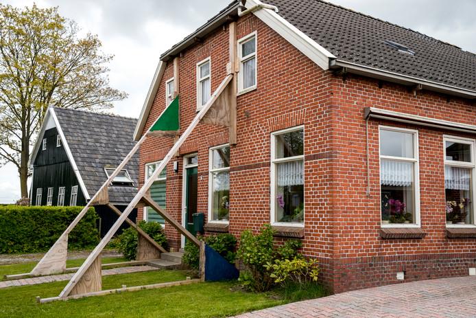 Aardbevingsschade in Groningen.