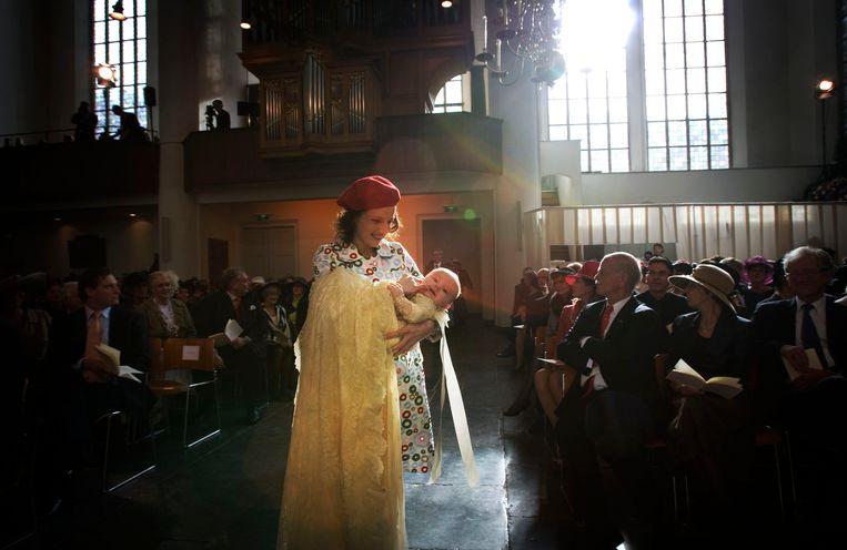 Inés Zorreguieta in 2007 met prinses Ariane Beeld ANP