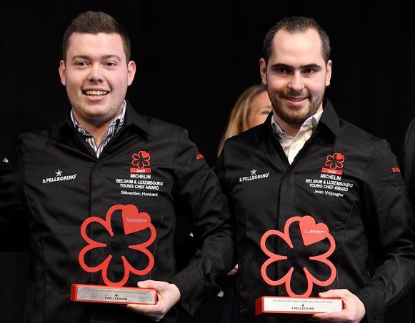 Twintigers Jean Vrijdaghs en Sébastien Hankard van Le Gastronome in Paliseul kregen voor het eerst een Michelin-ster én ook allebei de Young Chef Award.