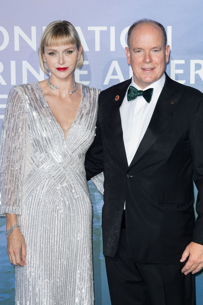 La princesse Charlène de Monaco avec le prince Albert II