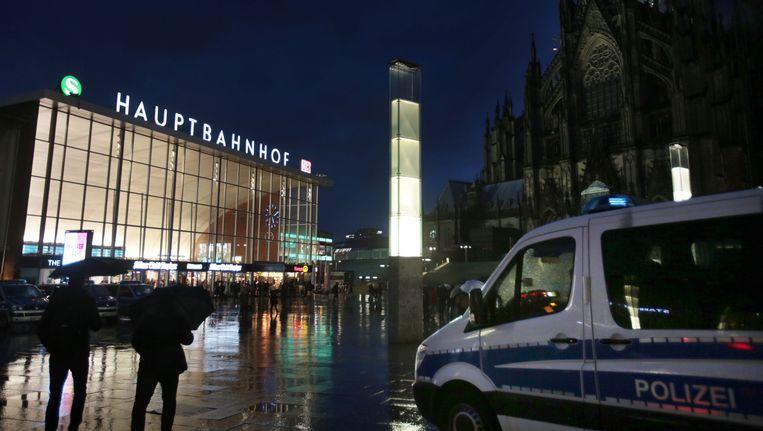 Op dit plein in Keulen vond de massa-aanranding plaats op oudejaarsnacht. Beeld EPA