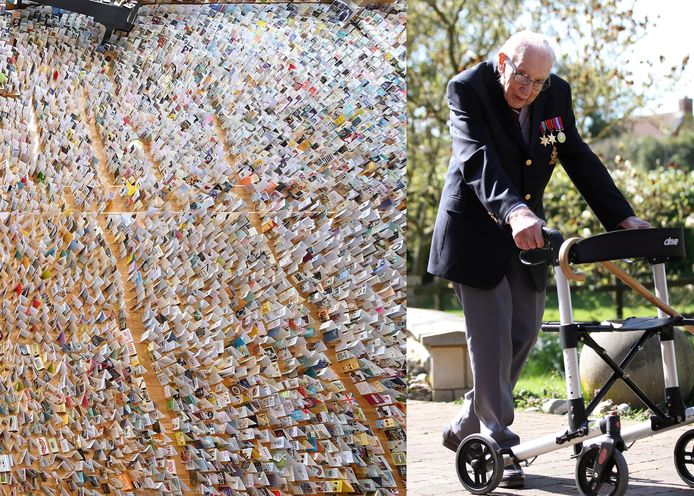 Meer dan 125.000 kaarten voor de 100ste verjaardag van veteraan Tom Moore.