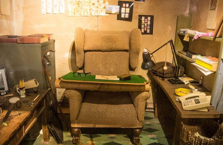 De hut waarin Roald Dahl zijn boeken schreef. Beeld stock
