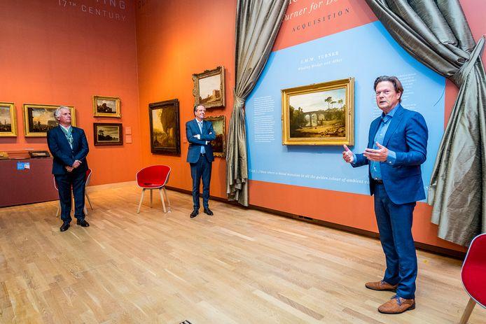 Sleeking was deze week nog aanwezig bij de onthulling van een meesterwerk van de schilder Turner, in het Dordrechts Museum.