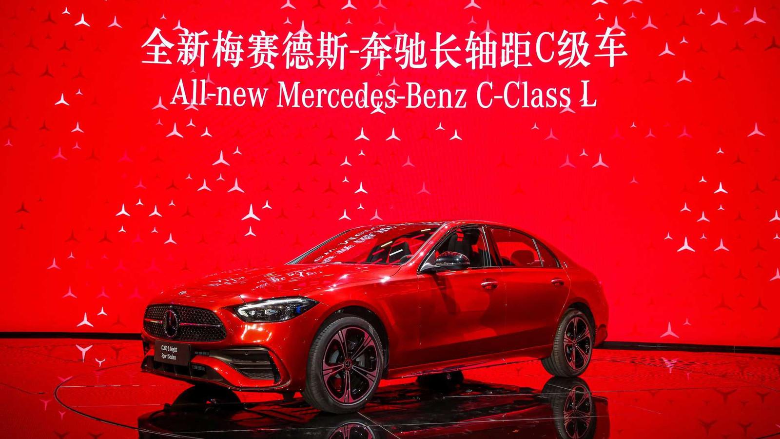 Ook de nieuwe Mercedes-Benz C-klasse bestaat in China als verlengde L-versie.