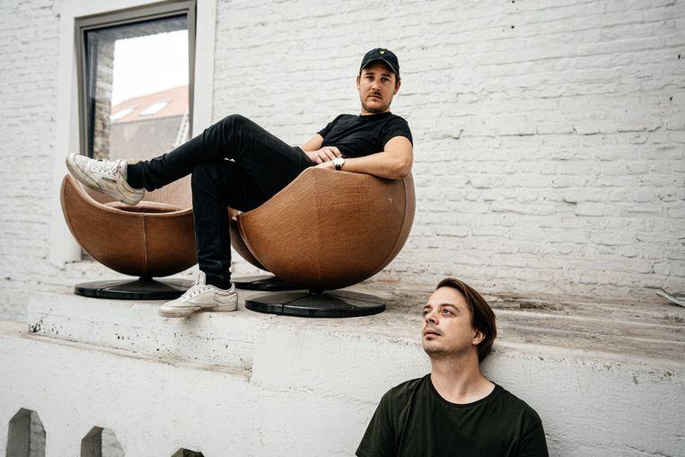 Regisseur Gilles Coulier (links) en componist David Martijn, in Sonhouse.  Beeld Wouter Van Vooren