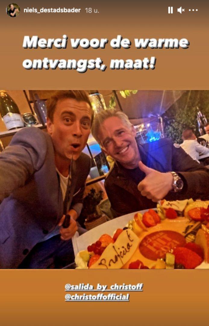 Collega-zanger Niels Destadsbader kwam donderdag nog naar Salida, om er met vrienden en gastheer Christoff zijn 33ste verjaardag te vieren.