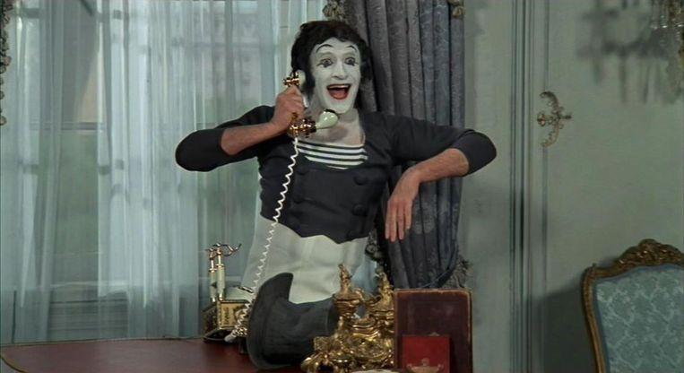 Mimespeler Marcel Marceau in Silent Movie (1976) Beeld