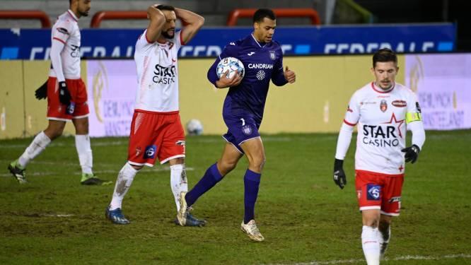 Anderlecht vermijdt bij Moeskroen vierde uitnederlaag op rij na discutabele penalty in blessuretijd