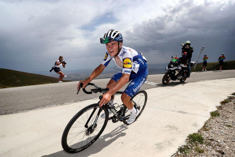 Evenepoel maakte indruk in de Ronde van Burgos. 'Maar in de Ronde van Polen verwacht ik kleinere verschillen.' Beeld Photo News