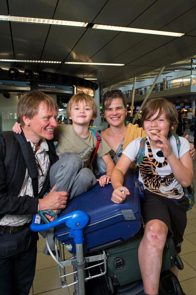 Klaus Jürgens, Isabella Steenbergen, Mats en Noah Beeld Mats van Soolingen