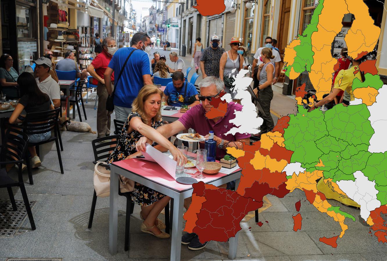 Touristen in Ronda, het zuiden van Spanje.