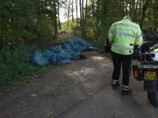 40 vuilniszakken hennepafval gedumpt in Wilp