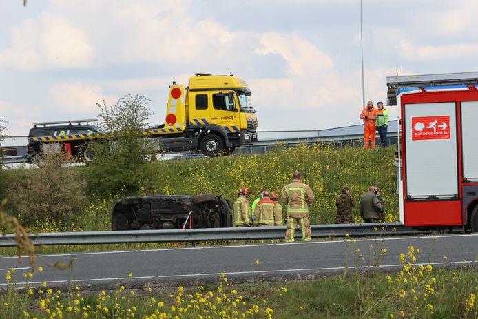 Ongeval op de A2 bij Son