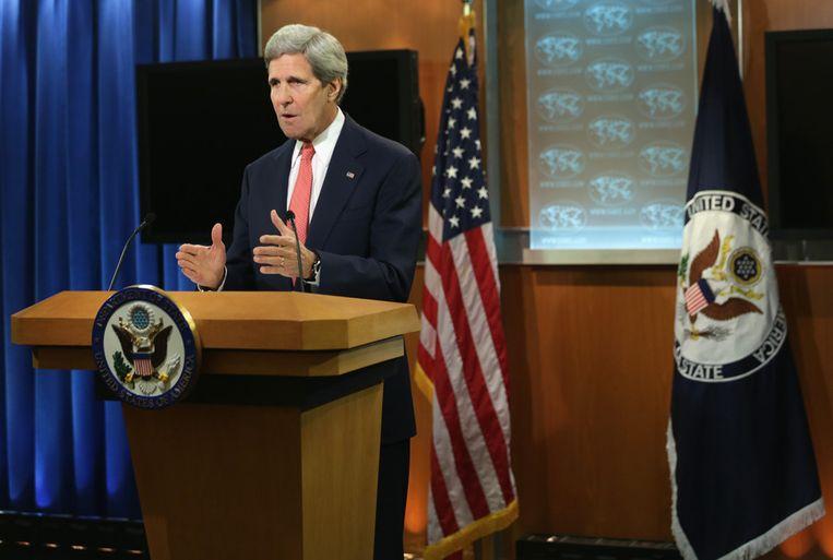 De Amerikaanse minister van Buitenlandse Zaken, John Kerry. Beeld GETTY