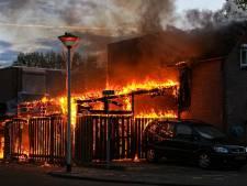 Brand verwoest schuur in Helmond, derde brand in een week tijd in dezelfde wijk