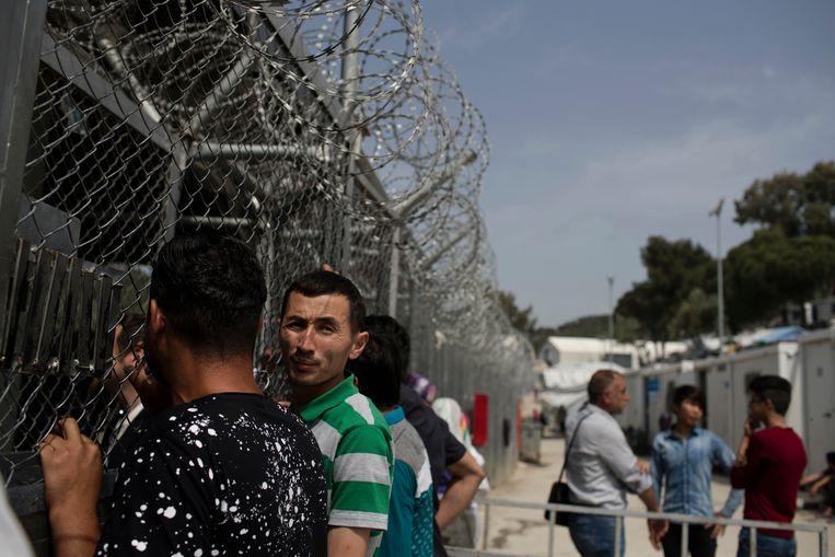 De kampen zijn zwaar overbevolkt: 42.000 mensen verblijven in kampen die voorzien zijn op 6.200 mensen.  Beeld AP