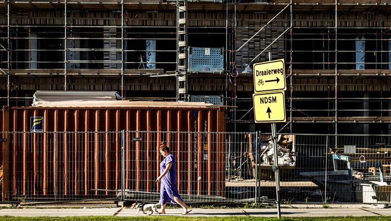 Een bouwproject in Buiksloterham, Amsterdam-Noord. Beeld ANP