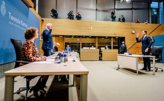 Premier Mark Rutte werd als laatste door de parlementaire ondervragingscommissie gehoord.