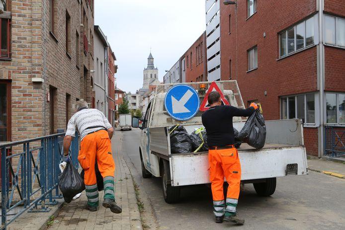 Opruimen van zwerfvuil in Tienen.
