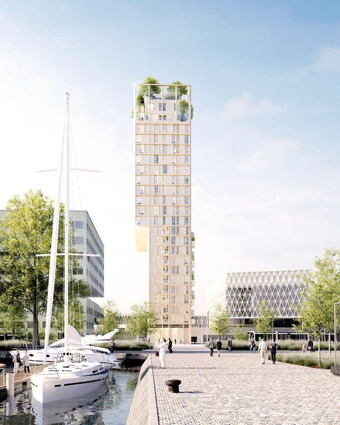 In de nieuwe toren aan het Kempisch dok zal je betaalbaar kunnen wonen.