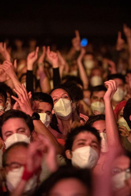 """""""Aucun signe"""" de contagion après un concert-test en présence de plus de 5.000 personnes"""