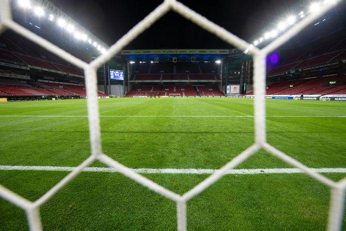 De Zeeuwse grasmat van DLF in het stadion van Kopenhagen.