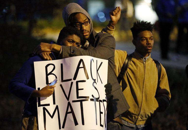 Demonstranten in Ferguson. Beeld reuters