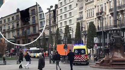 Gebouw deels ingestort in centrum van Antwerpen