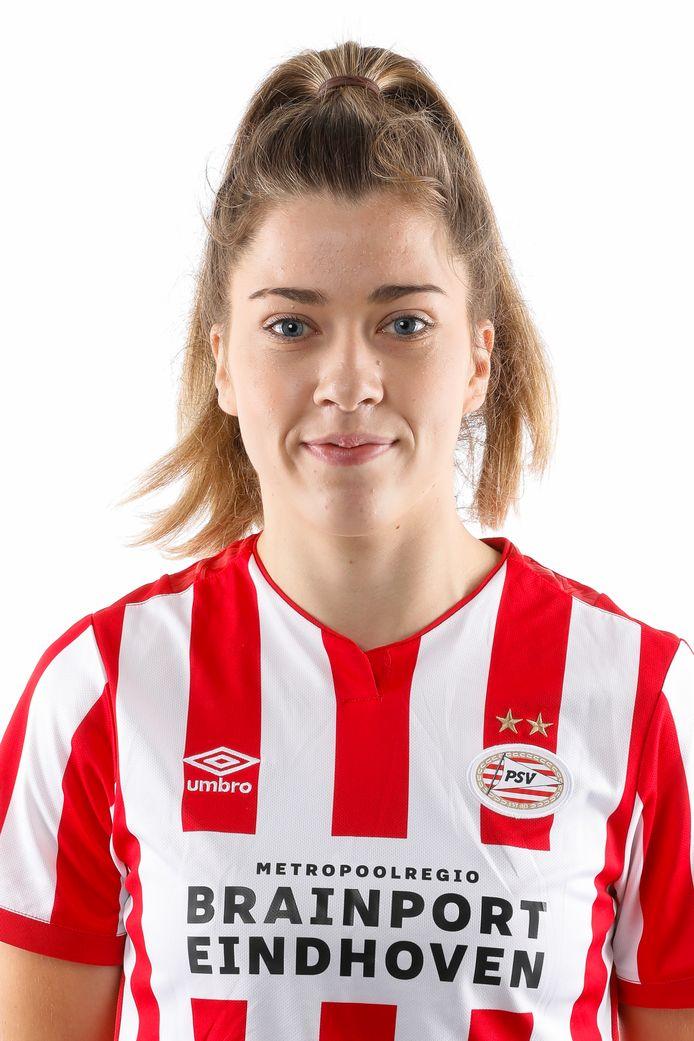 Nurija van Schoonhoven, voetbalster PSV Vrouwen.