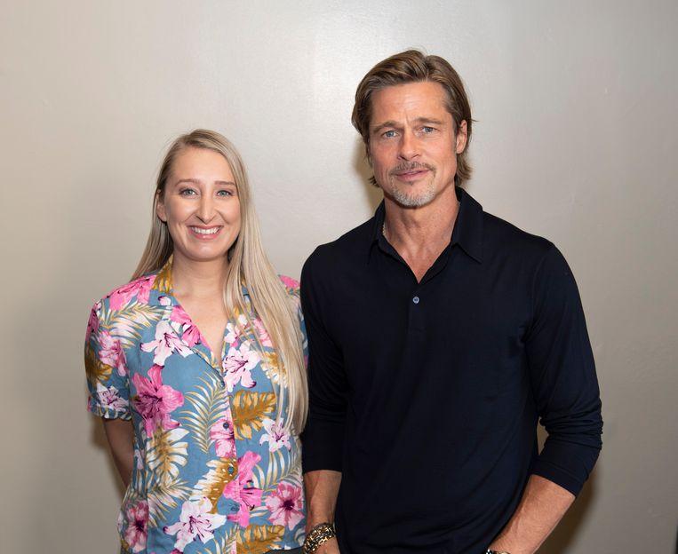 Onze reporter met Brad Pitt