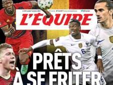 """""""Prêts à se friter"""": L'Équipe lance le match Belgique-France"""