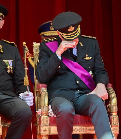 Les larmes du roi Philippe devant les images des inondations