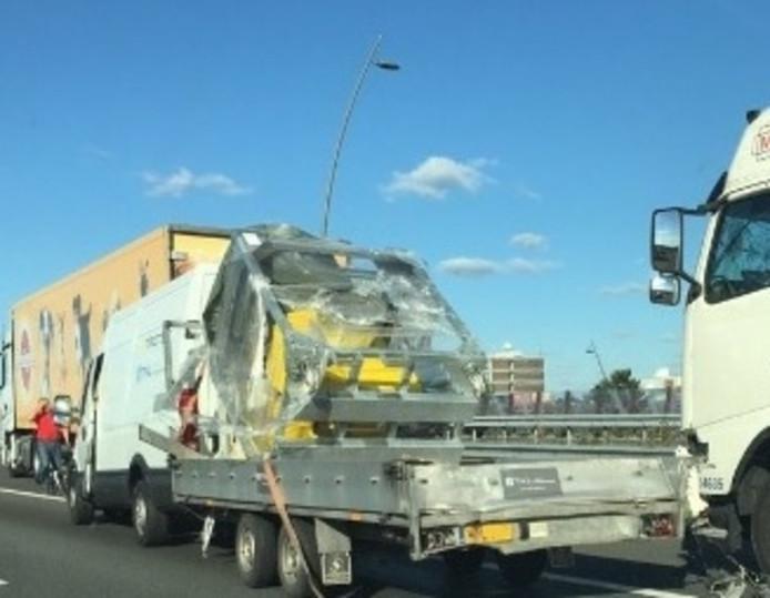 Ongeluk met vrachtwagen op A2 bij Eindhoven