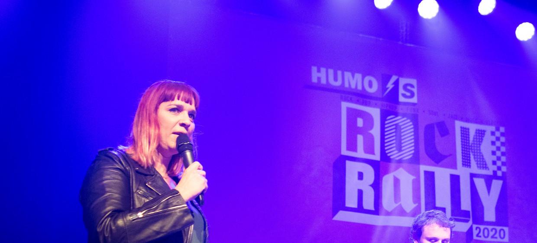 Sofie Engelen presenteert Humo's Rock Rally Beeld Alex Vanhee