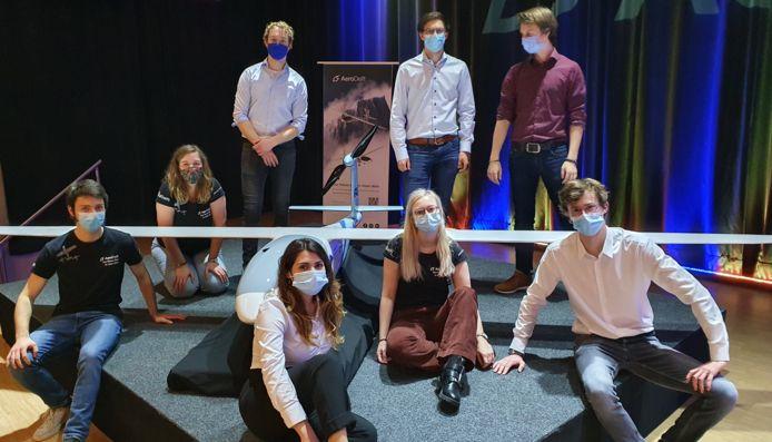 Het AeroDelft studententeam van de TU Delft.