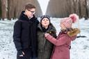 'Pietje' met zijn broer Roy (14) en zusje Elisa (9).