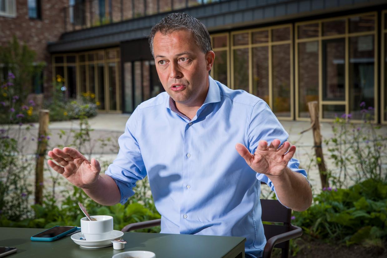 interview met Open Vld voorzitter Egbert Lachaert in Merelbeke Beeld Simon Mouton Photo News