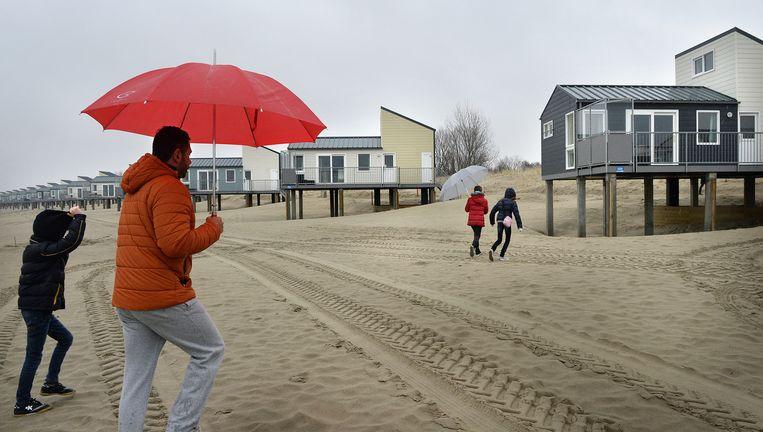 Het Roompot Beach Resort in Kamperland, Noord-Beveland, dat vorig jaar is opgeleverd. Beeld null