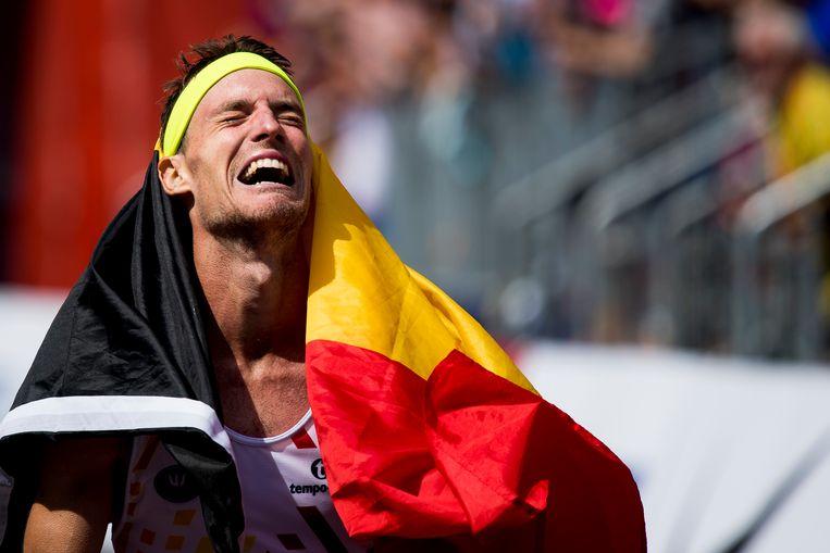 Koen Naert won de marathon op het Europees Kampioenschap. Beeld BELGA