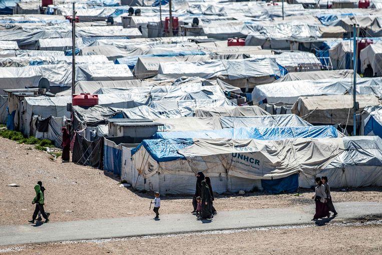 Kamp Roj, in Syrië. Beeld AFP