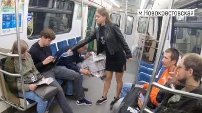 Russische studente giet in metro bleekmiddel over mannen met een 'irritante gewoonte'