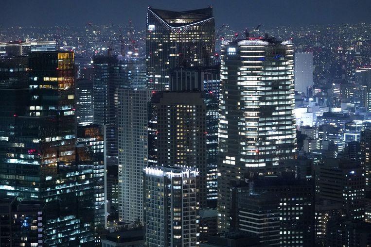 Kantoorgebouwen in Tokio. Beeld Getty