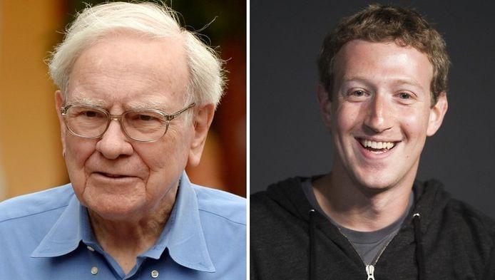 Warren Buffett en Mark Zuckerberg