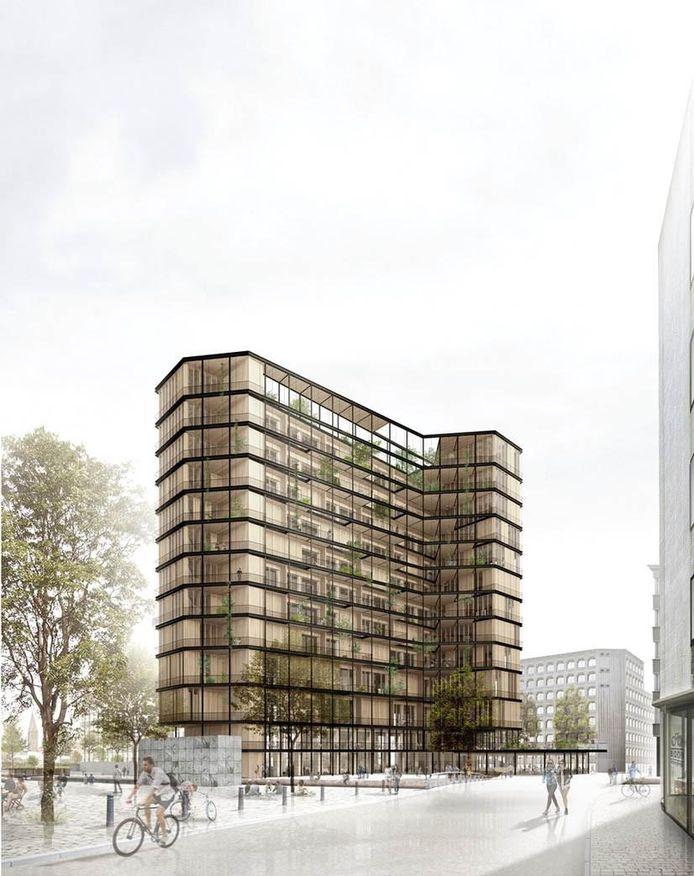 Zo moet het vernieuwde gebouw eruit zien.