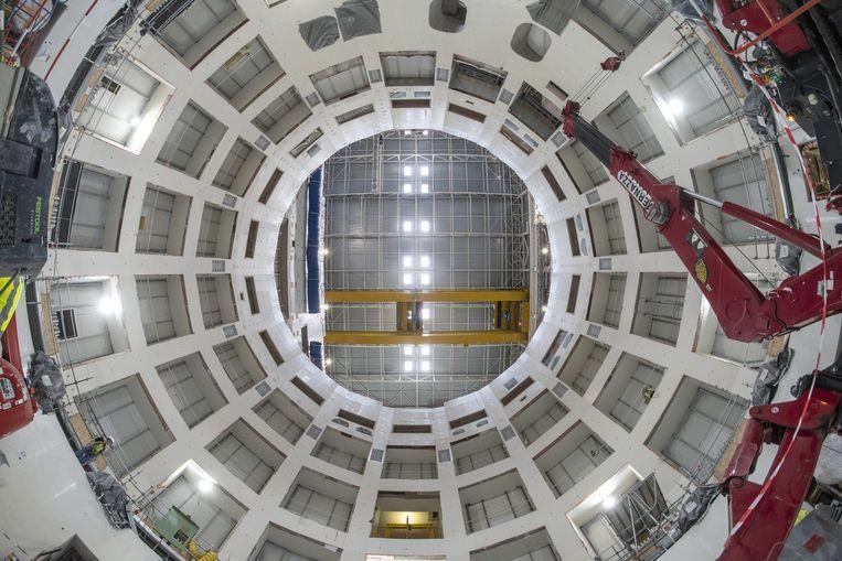 In deze 'put' komen straks alle onderdelen samen van de zogeheten tokamak, het onderdeel van de reactor waar de daadwerkelijke fusie zal plaatsvinden. Beeld ITER/Gérard Lesénéchal