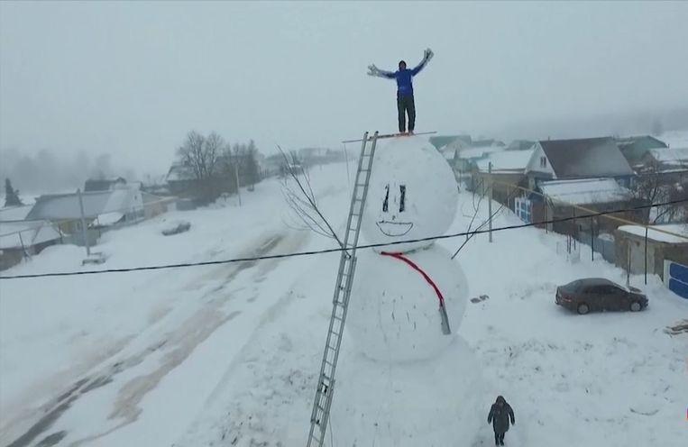 Sneeuwman in Rusland